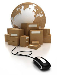 Content Management Systems - Picture of Globe, Packages and Mouse